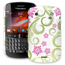 Pink Floral and Green Swirls BlackBerry 9900/9930 Bold ColorStrong Slim-Pro Case