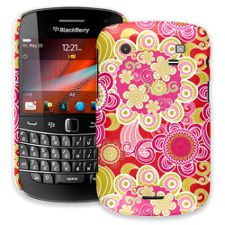 Abstract Pink Floral BlackBerry 9900/9930 Bold ColorStrong Slim-Pro Case