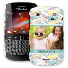 Colored Chalk Chevron BlackBerry 9900/9930 Bold ColorStrong Slim-Pro Case