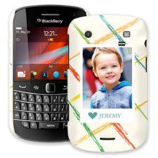 Crayon Splash Blue BlackBerry 9900/9930 Bold ColorStrong Slim-Pro Case