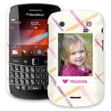 Crayon Splash Pink BlackBerry 9900/9930 Bold ColorStrong Slim-Pro Case