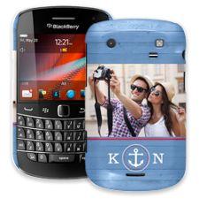Blue Nautical BlackBerry 9900/9930 Bold ColorStrong Slim-Pro Case