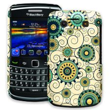Swirls Yellow BlackBerry 9700 ColorStrong Slim-Pro Case