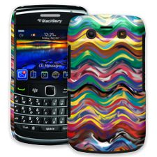 Wavy Paint Swirls BlackBerry 9700 ColorStrong Slim-Pro Case
