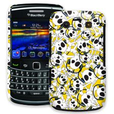 Skull Prince with Beats on Yellow BlackBerry 9700 ColorStrong Slim-Pro Case