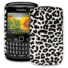 Black and White Leopard BlackBerry 8520 Curve ColorStrong Slim-Pro Case