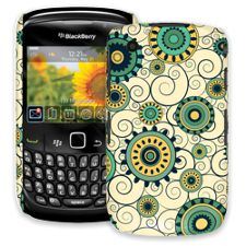 Swirls Yellow BlackBerry 8520 Curve ColorStrong Slim-Pro Case
