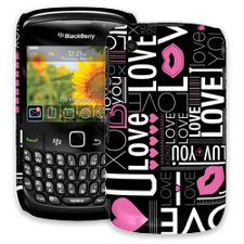 Love BlackBerry 8520 Curve ColorStrong Slim-Pro Case