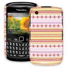Orange Tribal BlackBerry 8520 Curve ColorStrong Slim-Pro Case
