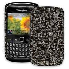 Black and White Tribal BlackBerry 8520 Curve ColorStrong Slim-Pro Case