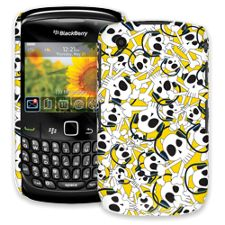 Skull Prince with Beats on Yellow BlackBerry 8520 Curve ColorStrong Slim-Pro Case