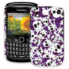 Skull Prince with Beats on Purple BlackBerry 8520 Curve ColorStrong Slim-Pro Case