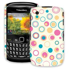 Retro Pink and Blue BlackBerry 8520 Curve ColorStrong Slim-Pro Case