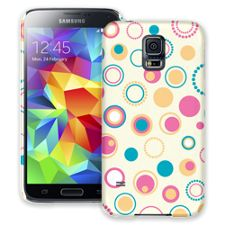 Retro Pink and Blue Samsung Galaxy S5 ColorStrong Slim-Pro Case