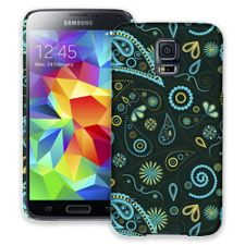Turquoise Paisley Samsung Galaxy S5 ColorStrong Slim-Pro Case