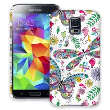 Butterflies and Dragonflies Samsung Galaxy S5 ColorStrong Slim-Pro Case