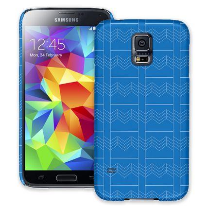 Chevron Blueprint Samsung Galaxy S5 ColorStrong Slim-Pro Case