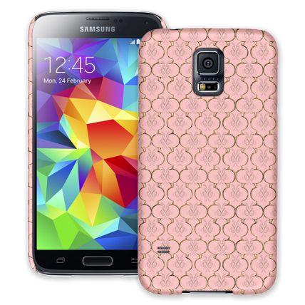 Golden Pink Quatrefoil Samsung Galaxy S5 ColorStrong Slim-Pro Case