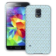 Golden Blue Quatrefoil Samsung Galaxy S5 ColorStrong Slim-Pro Case