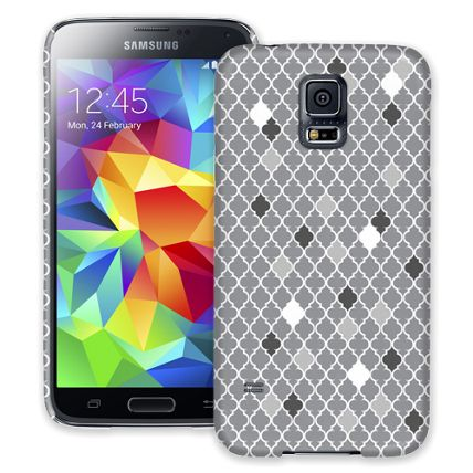 Speckled Grey Quatrefoil Samsung Galaxy S5 ColorStrong Slim-Pro Case