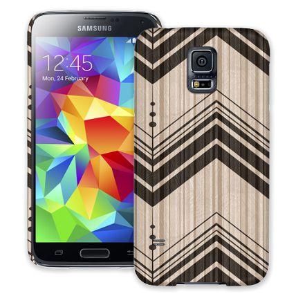 Black Tribal Chevron Samsung Galaxy S5 ColorStrong Slim-Pro Case