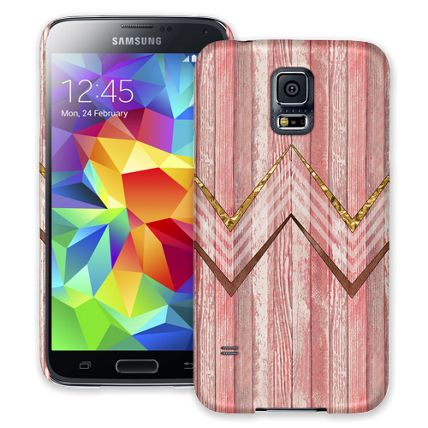 Retro Pink Wood Chevron Samsung Galaxy S5 ColorStrong Slim-Pro Case