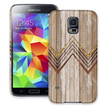 Retro Brown Wood Chevron Samsung Galaxy S5 ColorStrong Slim-Pro Case