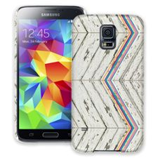 Rainbow Refraction White Wood Samsung Galaxy S5 ColorStrong Slim-Pro Case