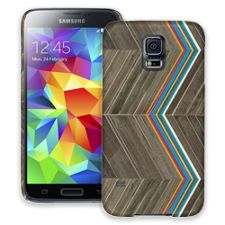 Rainbow Refraction Brown Wood Samsung Galaxy S5 ColorStrong Slim-Pro Case