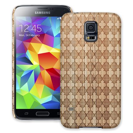 Aged Wood Quatrefoil Samsung Galaxy S5 ColorStrong Slim-Pro Case