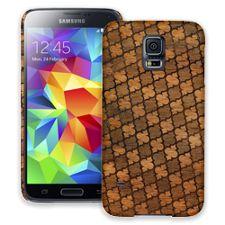 Mahogany Quatrefoil Samsung Galaxy S5 ColorStrong Slim-Pro Case