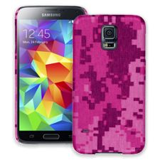 Pink Digital Camouflage Samsung Galaxy S5 ColorStrong Slim-Pro Case