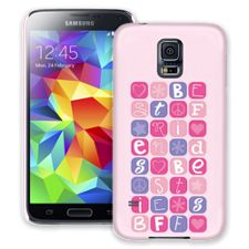 BFF Blocks Pink Samsung Galaxy S5 ColorStrong Slim-Pro Case