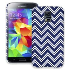 Blue & White Double Chevron Samsung Galaxy S5 ColorStrong Slim-Pro Case