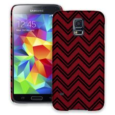 Brick Red & Black Double Chevron Samsung Galaxy S5 ColorStrong Slim-Pro Case