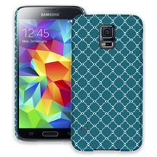 Teal Quatrefoil Samsung Galaxy S5 ColorStrong Slim-Pro Case