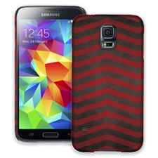 Red & Grey Bold Chevron Samsung Galaxy S5 ColorStrong Slim-Pro Case