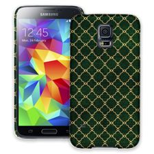 Green & Gold Quatrefoil Samsung Galaxy S5 ColorStrong Slim-Pro Case
