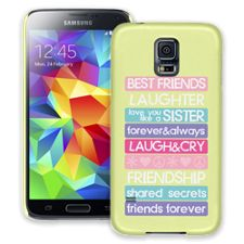 Besties 4Ever Samsung Galaxy S5 ColorStrong Slim-Pro Case