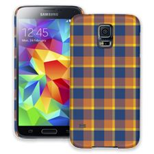 Blue & Yellow Plaid Samsung Galaxy S5 ColorStrong Slim-Pro Case