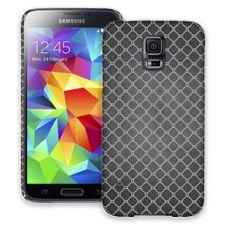 Grey on Grey Quatrefoil Light Samsung Galaxy S5 ColorStrong Slim-Pro Case