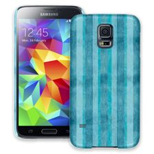 Distressed Blue Stripes Samsung Galaxy S5 ColorStrong Slim-Pro Case