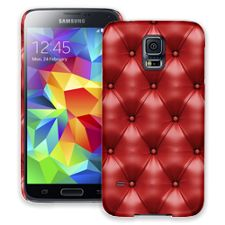 Red Leather Samsung Galaxy S5 ColorStrong Slim-Pro Case