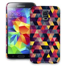 Transparent Triangles Samsung Galaxy S5 ColorStrong Slim-Pro Case