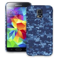 Blue Digital Camouflage Samsung Galaxy S5 ColorStrong Slim-Pro Case