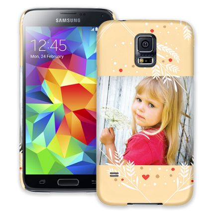 Honey Wheat Heart Samsung Galaxy S5 ColorStrong Slim-Pro Case