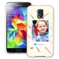 Crayon Splash Blue Samsung Galaxy S5 ColorStrong Slim-Pro Case