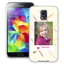 Crayon Splash Pink Samsung Galaxy S5 ColorStrong Slim-Pro Case