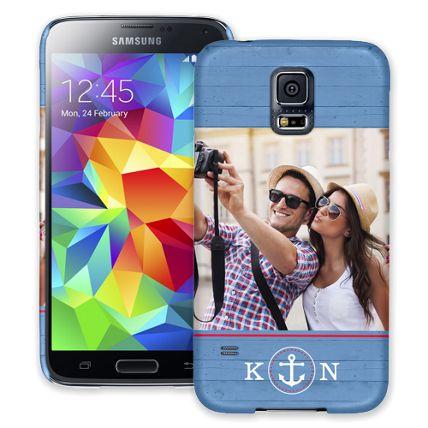 Blue Nautical Samsung Galaxy S5 ColorStrong Slim-Pro Case