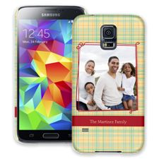 Retro Plaid Samsung Galaxy S5 ColorStrong Slim-Pro Case